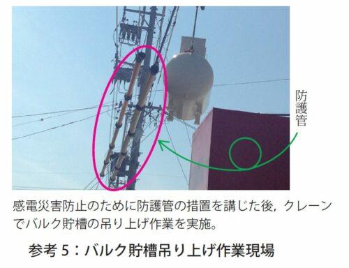 参考5:バルク貯槽吊り上げ作業現場